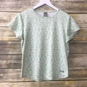 REI Shirt Short Sleeve White Green